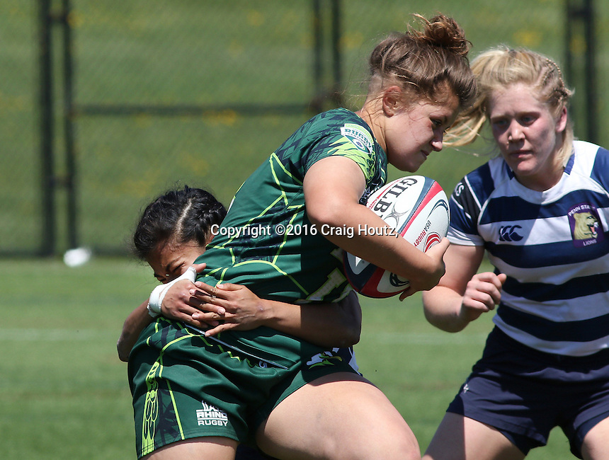 Penn State women's rugby against Life University women's rugby in the D1 Elite Rugby National Championship semi-final on April 24, 2016. Penn State won 13-7. Photo/© 2016 Craig Houtz
