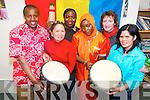 Preparing for Africa Day in Killarney next Sunday, May 27th. .Front L-R KASI co-ordinator , Marilyn Catapat Counihan, Seniya Maryam Arikan and Inday Robson, .Back L-R Stephen Kariuki, Norah Louise Ssebidende and Family Support worker with KASI, Joni Kelly.