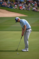 Jim Knous (USA) sinks his eagle putt on 18 during day 3 of the Valero Texas Open, at the TPC San Antonio Oaks Course, San Antonio, Texas, USA. 4/6/2019.<br /> Picture: Golffile | Ken Murray<br /> <br /> <br /> All photo usage must carry mandatory copyright credit (&copy; Golffile | Ken Murray)