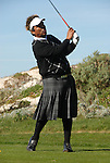 George Lopez in kilts at Spyglass Hill GC