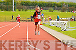 Ciara Kennelly Fossa, winning the girls u-12 200m Semi Finals at the Kerry community games athlethics finals at an Riocht, Castleisland on Sunday.