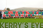 West Kerry and Daingean Uí Chúis teams before the Brendan O'Driscoll Memorial match in Dingle on Friday afternoon..