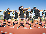 Palos Verdes, CA 10/21/16 - The Peninsula Song and Cheer squads in action during the 2016 Homecoming game between Redondo Union and Palos Verdes Peninsula.