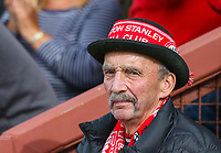 An Accrington Stanley fan watches on during the first half<br /> <br /> Photographer Alex Dodd/CameraSport<br /> <br /> The EFL Sky Bet League One - Fleetwood Town v Accrington Stanley - Saturday 15th September 2018  - Highbury Stadium - Fleetwood<br /> <br /> World Copyright &copy; 2018 CameraSport. All rights reserved. 43 Linden Ave. Countesthorpe. Leicester. England. LE8 5PG - Tel: +44 (0) 116 277 4147 - admin@camerasport.com - www.camerasport.com