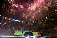 Fireworks at Santiago Bernabeu Stadium during the celebration of the 12th UEFA Championship won by Real Madrid  in Madrid, June 04, 2017. Spain.<br /> Foto ALTERPHOTOS/BorjaB.Hojas/Insidefoto
