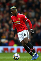 Paul Pogba of Manchester United during the Premier League match between Manchester United and Swansea City at the Old Trafford, Manchester, England, UK. Saturday 31 March 2018