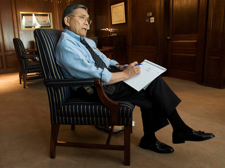 12/06/05.MINETA/AMTRAK--Transportation Secretary Norman Y. Mineta during an interview in his office about Amtrak..CONGRESSIONAL QUARTERLY PHOTO BY SCOTT J. FERRELL