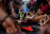 Sept. 20, 2013; Ennis, TX, USA: NHRA a Rat Fink figure in a toy car during the Fall Nationals at the Texas Motorplex. Mandatory Credit: Mark J. Rebilas-