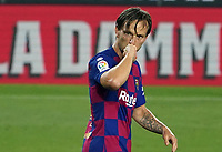 23rd June 2020, Camp Nou, Barcelona, Spain; La Liga Football league, FC Barcelona versus Athletico Bilbao;  Ivan Rakitic celebrates as he scores for 1-0 in the 71st minute