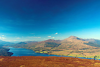 Loch Venachar and Ben Ledi from Ben Gullipen, Loch Lomond and the Trossachs National Park, Stirlingshire