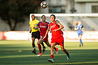 Seattle, WA - Saturday, July 1, 2017:  Emily Menges during a regular season National Women's Soccer League (NWSL) match between the Seattle Reign FC and the Portland Thorns FC at Memorial Stadium.