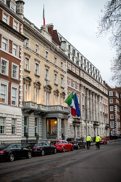 The Italian Embassy in London.<br />