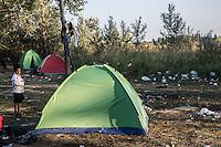 accampamento di migranti a Subotiza, nei pressi della vecchia fabbrica  camp for migrants in Subotiza , near the old factory