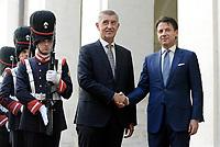 Roma, 28 Agosto 2018<br /> Il Presidente del Consiglio, Giuseppe Conte, ha ricevuto a Palazzo Chigi il Primo Ministro della Repubblica Ceca, Andrej Babiš.