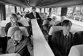 Residents of Walterton and Elgin Estates travel to Westminster City Hall with their eventually succesful bid to takeover their homes from the council, 1989.