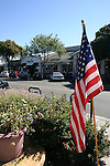 US flag in Los Altos