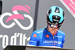 Maglia Azzurra Enrico Barbin (ITA) Bardiani CSF signs on before the start of Stage 6 of the 2018 Giro d'Italia, running 169km from Caltanissetta to the Etna (Osservatorio Astrofisico) marks the first mountain finish of the race finishing on the Osservatorio Astrofisico climb for the first time in race's history, Sicily, Italy. 10th May 2018.<br /> Picture: LaPresse/Gian Mattia D'Alberto | Cyclefile<br /> <br /> <br /> All photos usage must carry mandatory copyright credit (&copy; Cyclefile | LaPresse/Gian Mattia D'Alberto)