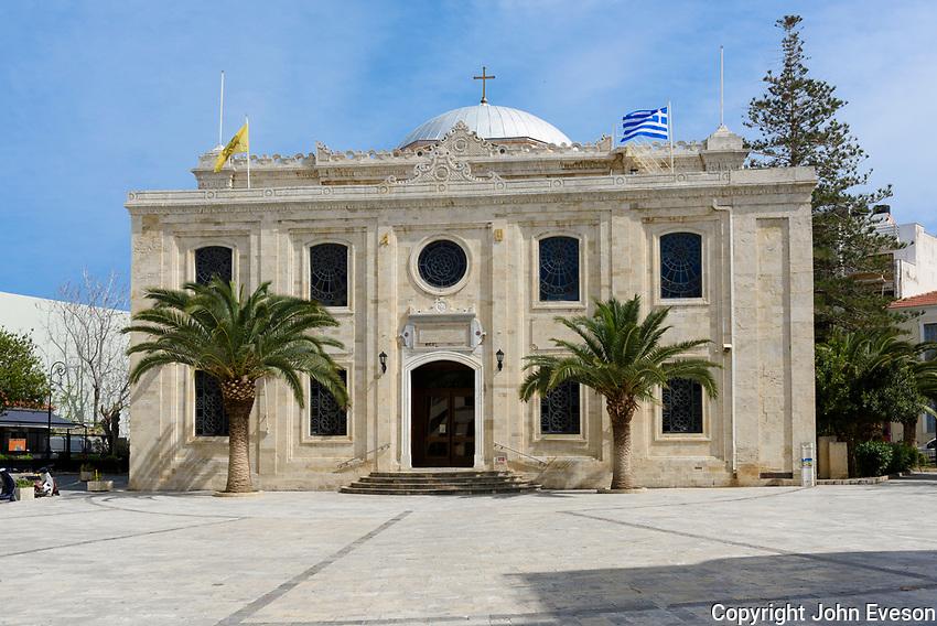 The Church of Ayios Titos, Heraklion, island of Crete, Greece.