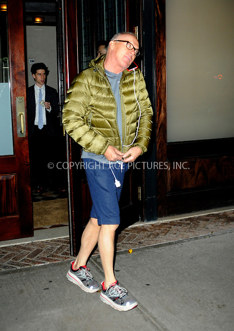 WWW.ACEPIXS.COM<br /> <br /> December 2 2014, New York City<br /> <br /> Actor Michael Keaton leaves a downtown hotel on December 2 2014 in New York City<br /> <br /> By Line: Curtis Means/ACE Pictures<br /> <br /> <br /> ACE Pictures, Inc.<br /> tel: 646 769 0430<br /> Email: info@acepixs.com<br /> www.acepixs.com