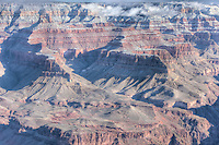 Grand Canyon view from Yavapai Point after winter snow