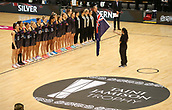 10th September 2017, PG Arena, Napier, New Zealand; Taini Jamison Netball Trophy, New Zealand versus England;  National Anthems