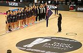 10th September 2017, PG Arena, Napier, New Zealand; Taini Jamison Netball Trophy, New Zealand versus England;  National Anthems