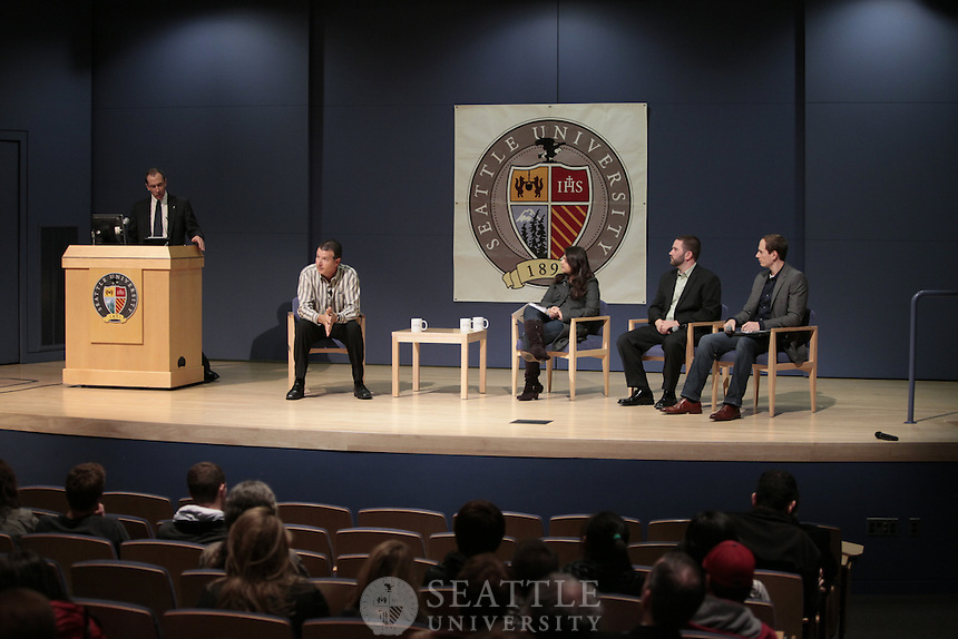 Seattle University's Albers School of Business and Economics executive speaker series with Tod Nielsen, Co-President for VMware. <br /> <br /> Photography by Meryl Schenker Photography.