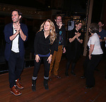 Steven Pasquale, Kelli O'Hara with Cast during the Actor's Equity Opening Night Gypsy Robe Ceremony honoring Jennifer Allen for 'The Bridges of Madison County'  at the Gerald Schoenfeld Theatre on February 20, 2014 in New York City.