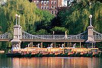 Bridge and swan boats, Public Garden, Boston, MA