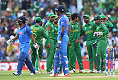 June 18th 2017, The Kia Oval, London, England;  ICC Champions Trophy Cricket Final; India versus Pakistan; Pakistan celebrate the wicket of Kedar Jadhav of India