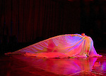 Dancer Kaylen Hopkins performing a Loie Fuller inspired  dance at the 2012 Pacific Symphony Gala in Irvine, Ca.