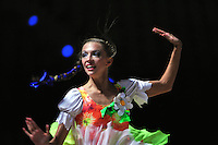 Melitina Staniouta of Belarus performs during gala at 2010 Pesaro World Cup on August 29, 2010 at Pesaro, Italy.  Photo by Tom Theobald.