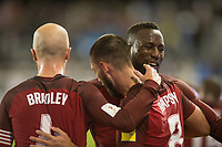San Jose, Ca - Friday March 24, 2017: Michael Bradley Clint Dempsey Jozy Altidore during the USA Men's National Team defeat of Honduras 6-0 during their 2018 FIFA World Cup Qualifying Hexagonal match at Avaya Stadium.