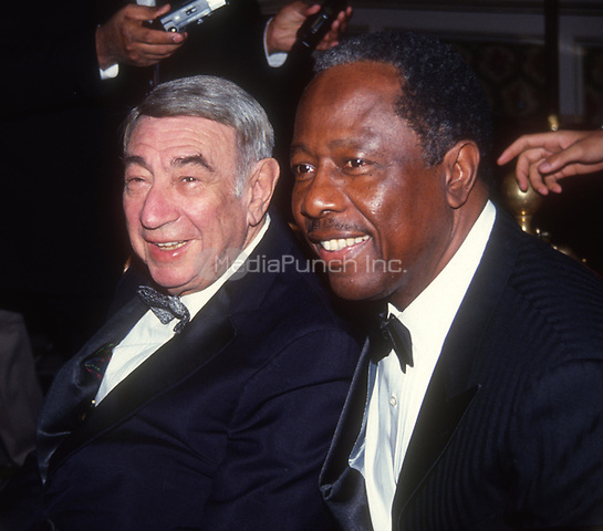 #HowardCosell #HankAaron 1991<br /> Photo by John Barrett/PHOTOlink.net / MediaPunch