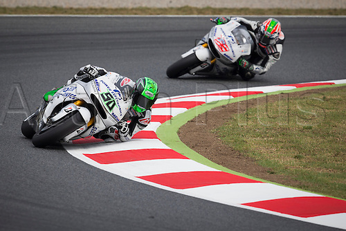 12.06.2015 Montmelo, Barcelona, Spain, Grand Prix Monster Energy of Catalunya. Eugene Laverty (IRL), Aspar MotoGP Team rider, in action during the free practice of MotoGP in the Grand Prix Monster Energy of Catalunya  from the Circuito de Montmelo.