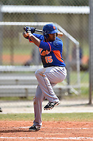 New York Mets outfielder Gilbert Gomez (15) during a minor league spring training game against the Miami Marlins on March 28, 2014 at Roger Dean Stadium in Jupiter, Florida.  (Mike Janes/Four Seam Images)