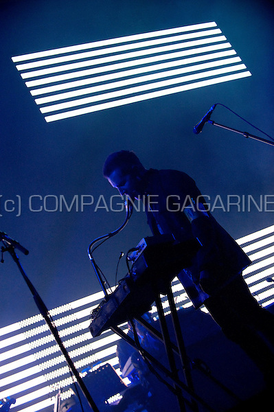 Concert of the British trip hop production duo Massive Attack at the Sportpaleis in Antwerp (Belgium, 03/09/2010)