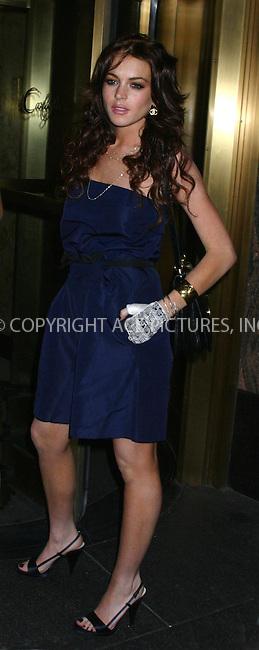 WWW.ACEPIXS.COM *** NO U.K. NEWSPAPERS SALES ***....NEW YORK, APRIL 2006....Lindsay Lohan seen in NYC.....Please byline: R. BOCKLET-ACEPIXS.COM  ..  ***  ..Ace Pictures, Inc:  ..(212) 243-8787 or (646) 769 0430..e-mail: picturedesk@acepixs.com..web: http://www.acepixs.com