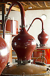 Peru, Bodega Ocucaje, Vina Ocucaje, Winery And Vineyards, Copper Pot Stills Used For Making Pisco, Ocucaje Desert