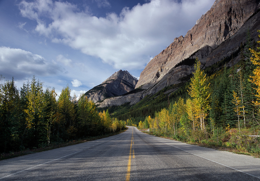 Fall along the Icefields Parkway in Alberta Canada provides a road trip experience like no other.
