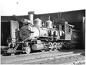 D&amp;RGW #268 at the Durango roundhouse.<br /> D&amp;RGW  Durango, CO  8/9/1940