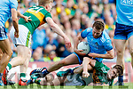 Jack McCaffrey, Dublin in action against Sean O'Shea, Kerry during the GAA Football All-Ireland Senior Championship Final match between Kerry and Dublin at Croke Park in Dublin on Sunday.