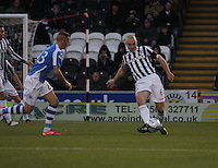 Jim Goodwin on the ball in the St Mirren v St Johnstone Clydesdale Bank Scottish Premier League match played at St Mirren Park, Paisley on 8.12.12.