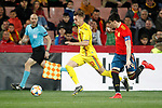 Romania's Dragus Denis and Spain's Jorge Mere  during the International Friendly match on 21th March, 2019 in Granada, Spain. (ALTERPHOTOS/Alconada)