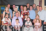 60TH: Paddy Ger Flynn (Keel) celebrates his 60th birthday with his family in The Anvil Bar, Boolteens, last Saturday.evening. Front row l-r: Helena OSullivan, Gavin OSullivan, Patrick Ger Flynn (birthday boy) with Conor OSullivan,.Eileen Flynn, Katelyn OSullivan, Fiona Flynn, Eleanor OSullivan. Back row l-r: Ann Marie Flynn, Anthony Flynn, Jack.OSullivan, Margo Flynn, Michael OSullivan, Olivia OSullivan, Padraig Flynn, Paudie OSullivan, Tim Flynn, Paulette.Scanlon and Eamon Clifford.