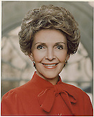 Official Portrait of First Lady Nancy Reagan released in Washington, DC on February 1, 1983.<br /> Credit: White House via CNP