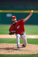 Columbus Clippers pitcher Nick Maronde (44) delivers a pitch during a game against the Buffalo Bisons on July 19, 2015 at Coca-Cola Field in Buffalo, New York.  Buffalo defeated Columbus 4-3 in twelve innings.  (Mike Janes/Four Seam Images)