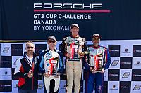 Race 2, Porsche Canada Platinum Masters Podium, #37 TPC Racing, Porsche 991 / 2017, GT3CP: Michael Levitas (M), #34 Pfaff Motorsports, Porsche 991 / 2017, GT3CP: Shaun McKaigue (M), #99 Kelly-Moss/AM Motorsports, Porsche 991 / 2019, GT3CP: Alan Metni (M)
