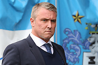 Bury manager Lee Clark  walks to the dug-out<br /> <br /> Photographer Juel Miah/CameraSport<br /> <br /> The EFL Sky Bet League One - Bury v Milton Keynes Dons - Saturday 30th September 2017 - Gigg Lane - Bury<br /> <br /> World Copyright &copy; 2017 CameraSport. All rights reserved. 43 Linden Ave. Countesthorpe. Leicester. England. LE8 5PG - Tel: +44 (0) 116 277 4147 - admin@camerasport.com - www.camerasport.com