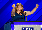 State Representative Diane Russell (Democrat of Maine), a Bernie Sanders supporter, makes remarks at the 2016 Democratic National Convention at the Wells Fargo Center in Philadelphia, Pennsylvania on Monday, July 25, 2016.<br /> Credit: Ron Sachs / CNP<br /> (RESTRICTION: NO New York or New Jersey Newspapers or newspapers within a 75 mile radius of New York City)